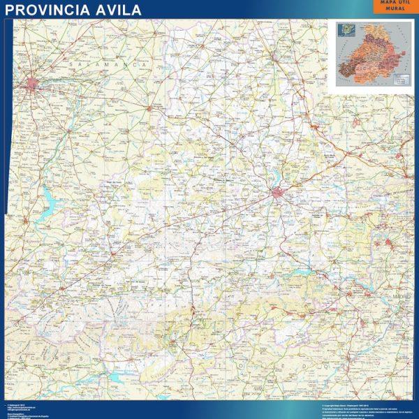 mapa provincia avila magnetico