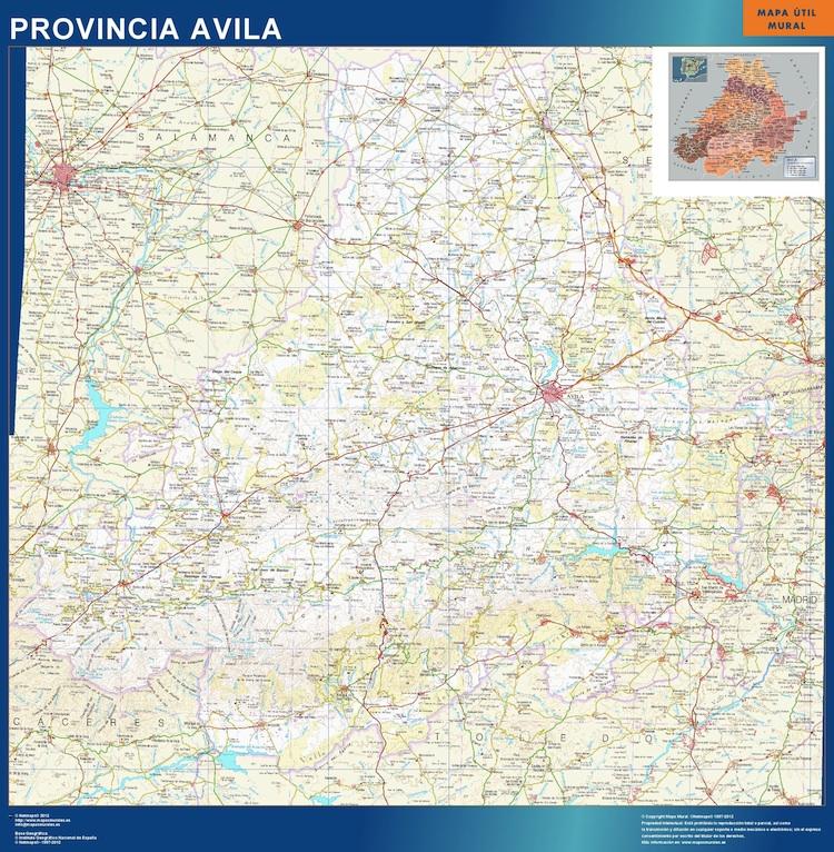 Mapa Provincia Avila Magnetico Vector World Maps