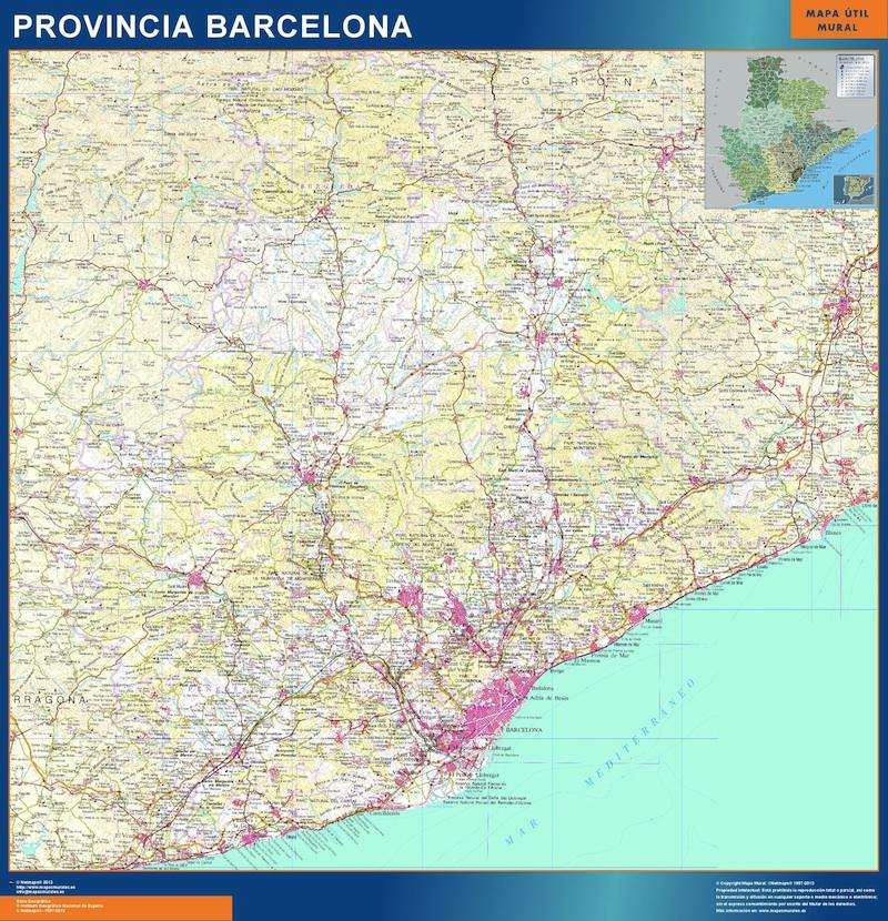 Mapa De Barcelona Provincia.Mapa Provincia Barcelona Magnetico