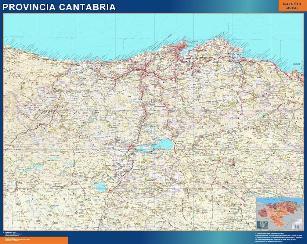 Mapa Provincia Cantabria Magnetico Vector Maps