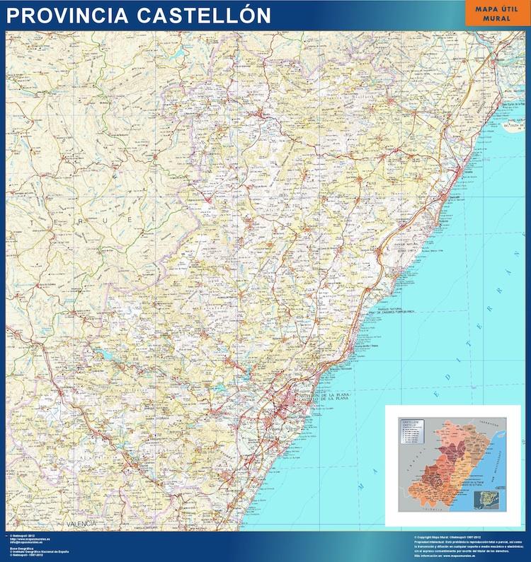 Provincia De Castellón Mapa.Mapa Provincia Castellon Magnetico