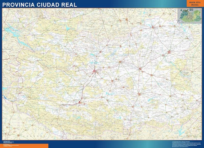 Mapa Provincia Ciudad Real.Mapa Provincia Ciudad Real Magnetico