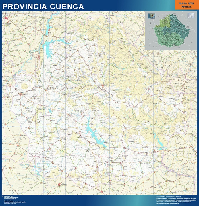 Mapa Provincia Cuenca Magnetico Vector World Maps