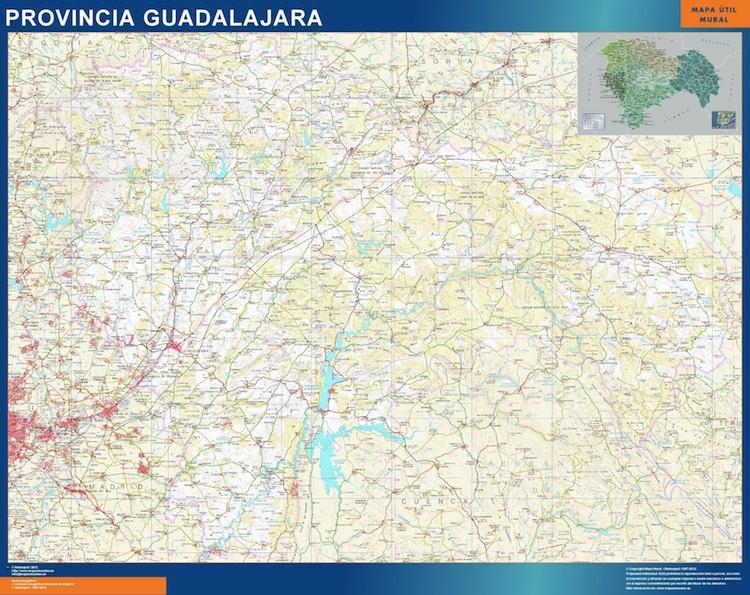 Mapa Provincia De Guadalajara.Mapa Provincia Guadalajara Magnetico