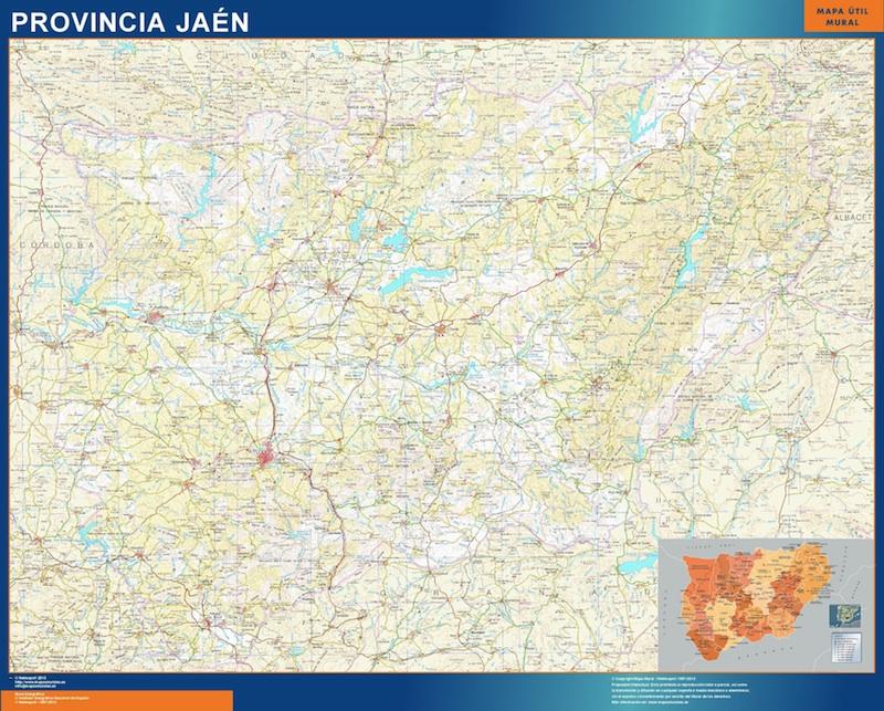 Mapa Provincia Jaen Magnetico Vector World Maps