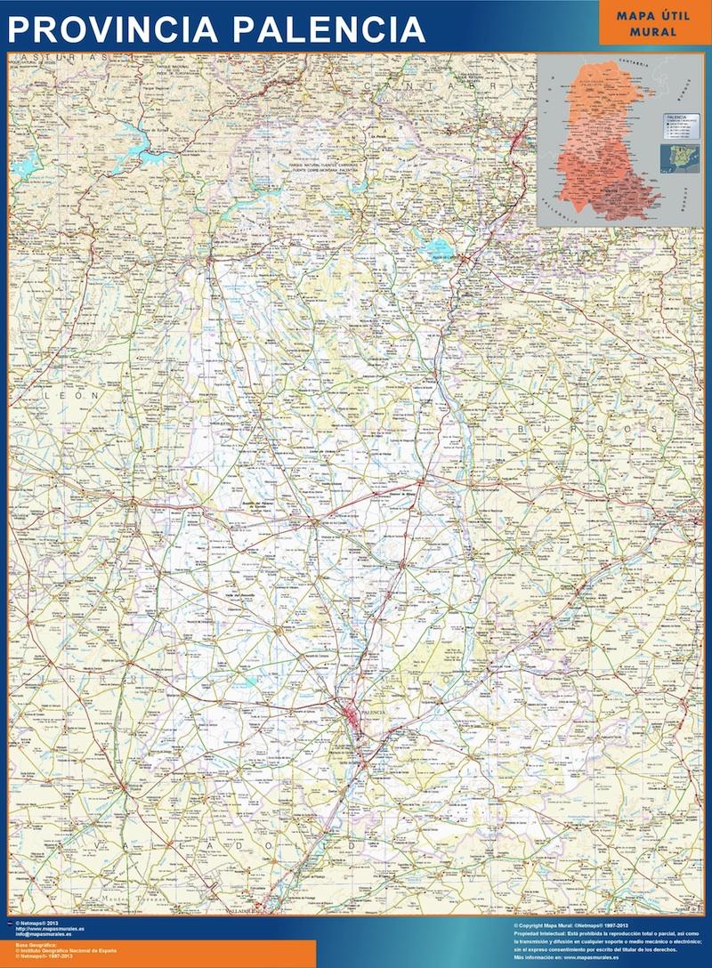 Mapa Provincia Palencia Magnetico Vector World Maps