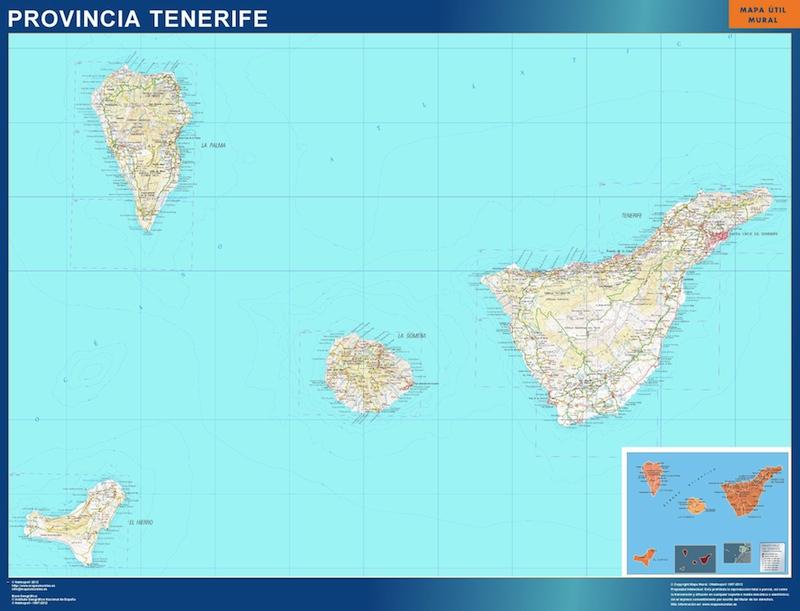 mapa provincia tenerife magnetico   Vector World Maps
