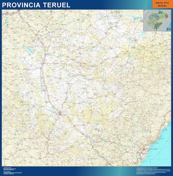 Provincia De Teruel Mapa.Mapa Provincia Teruel Magnetico