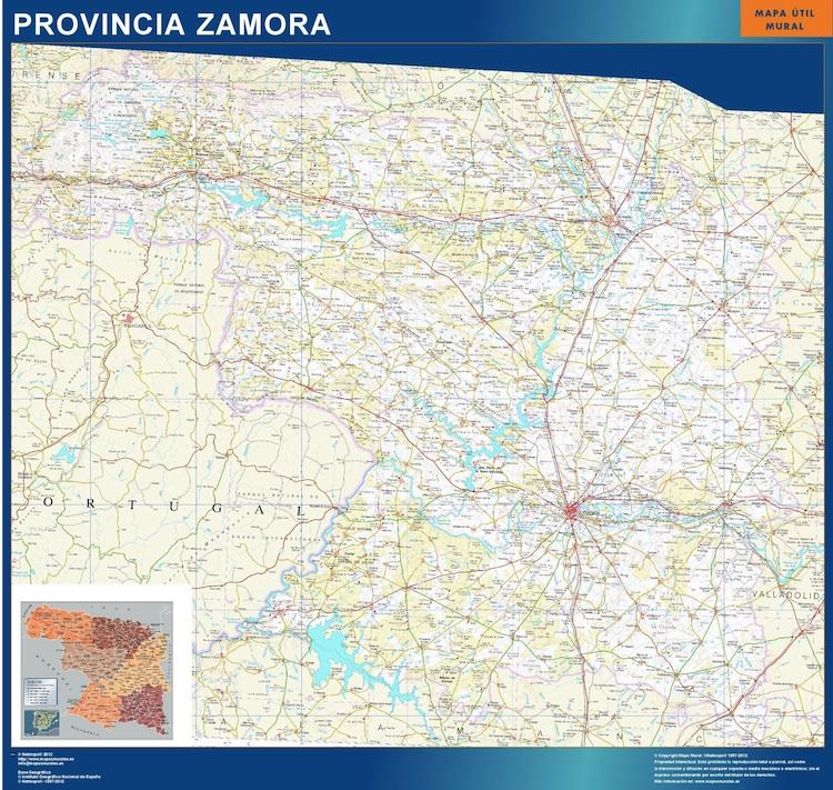 Mapa De Zamora Provincia.Mapa Provincia Zamora Magnetico