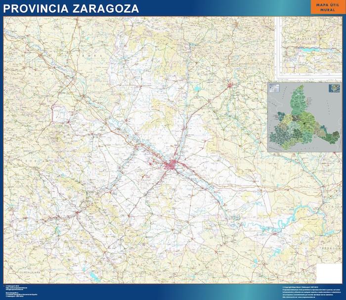 Mapa Provincia De Zaragoza.Mapa Provincia Zaragoza Magnetico