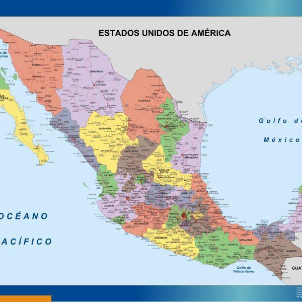 mexico framed maps