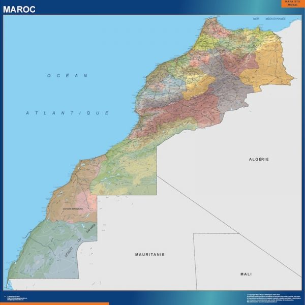 morocco framed maps