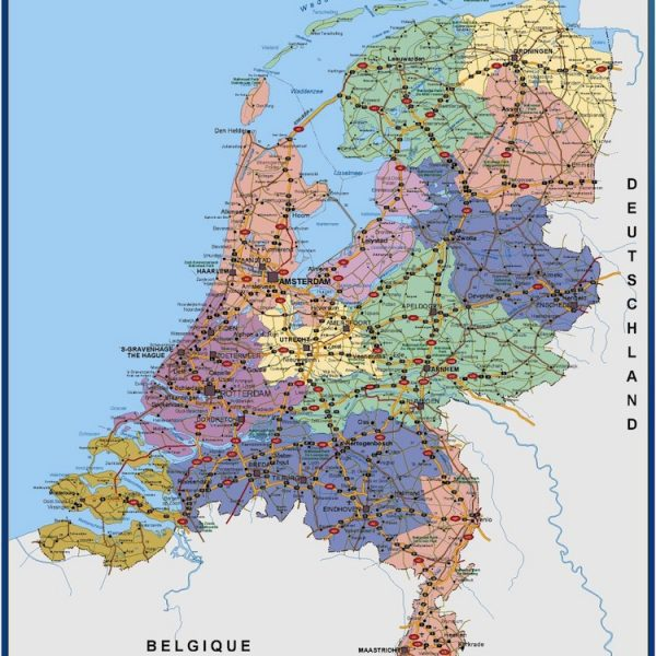 netherlands vinyl sticker maps