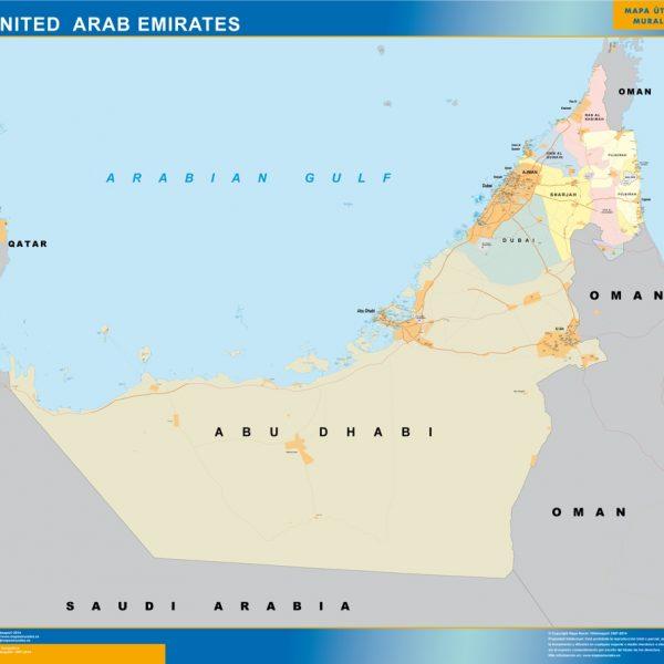 united arab emirates vinyl sticker maps