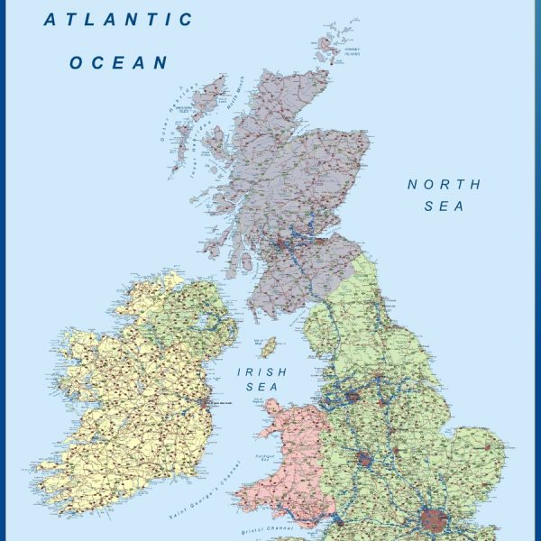 united kingdom vinyl sticker maps