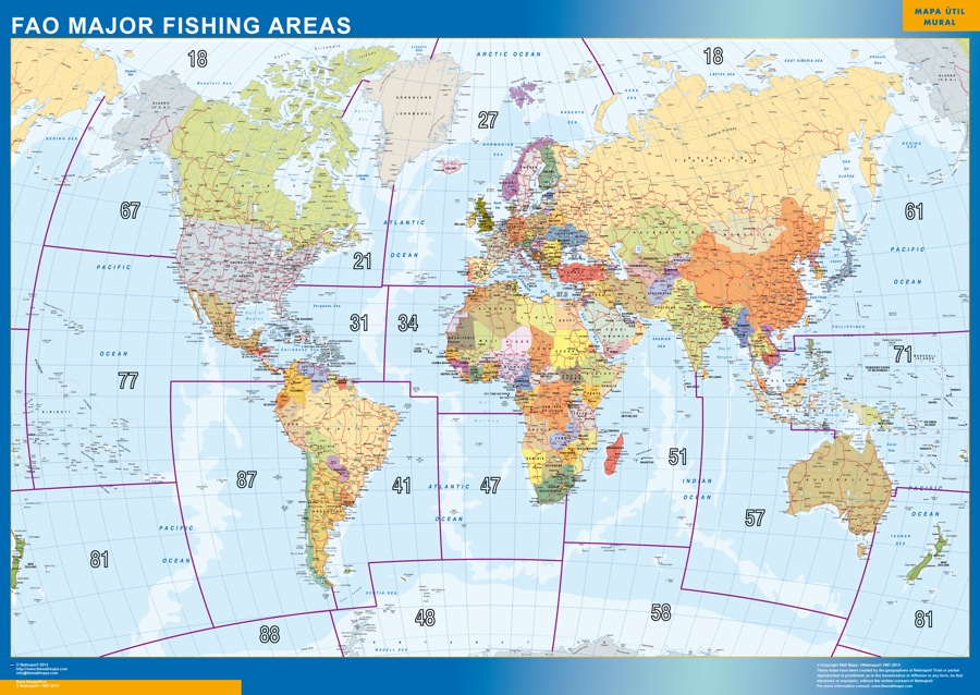 World framed map fao fishing areas a vector eps maps designed by world framed map fao fishing areas gumiabroncs Images