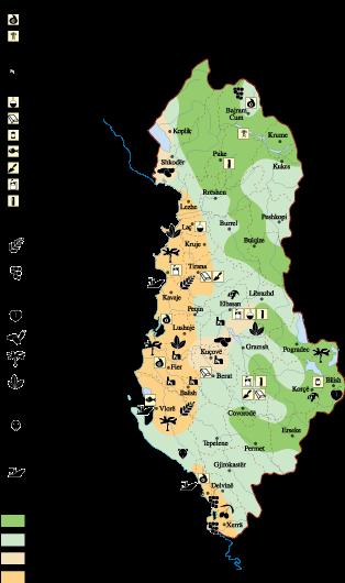 Albania Economic map