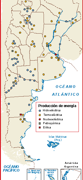 Argentina mapa energia