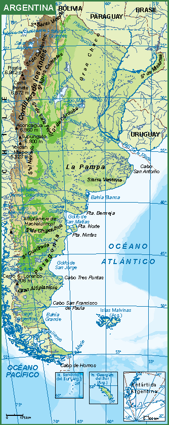 Argentina Mapa Fisico Our Cartographers Have Made Argentina Mapa - Argentina mapa