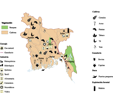 Bangladesh Economic map