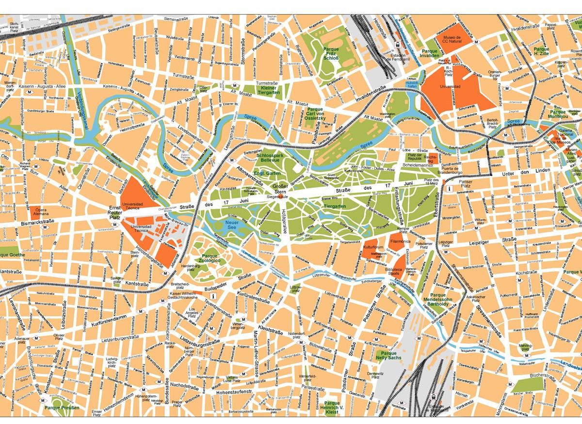 berlin city map tourist pdf