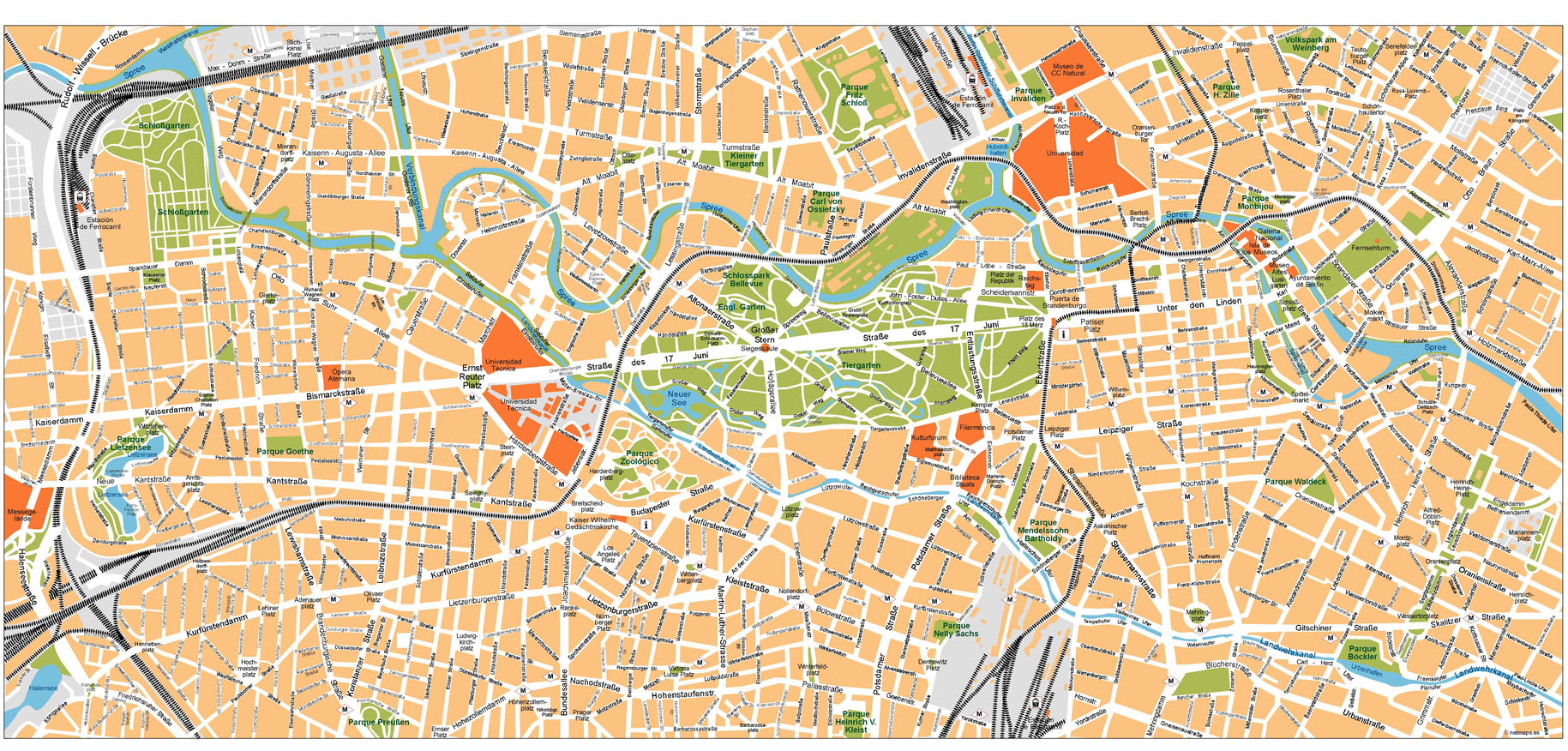 Berlin Vector Map | Vector World Maps