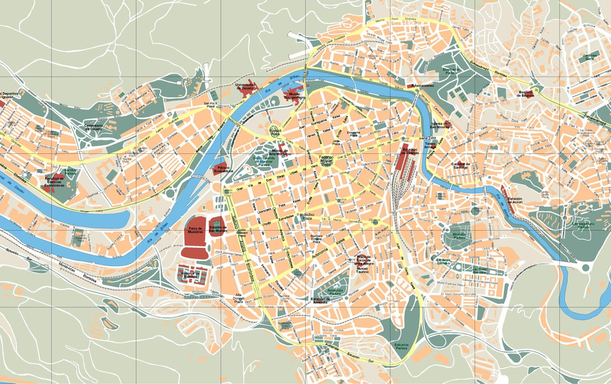 Bilbao Vector Map Our cartographers have made Bilbao Vector Map