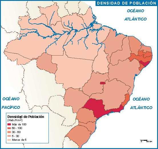 Brasil mapa poblacion