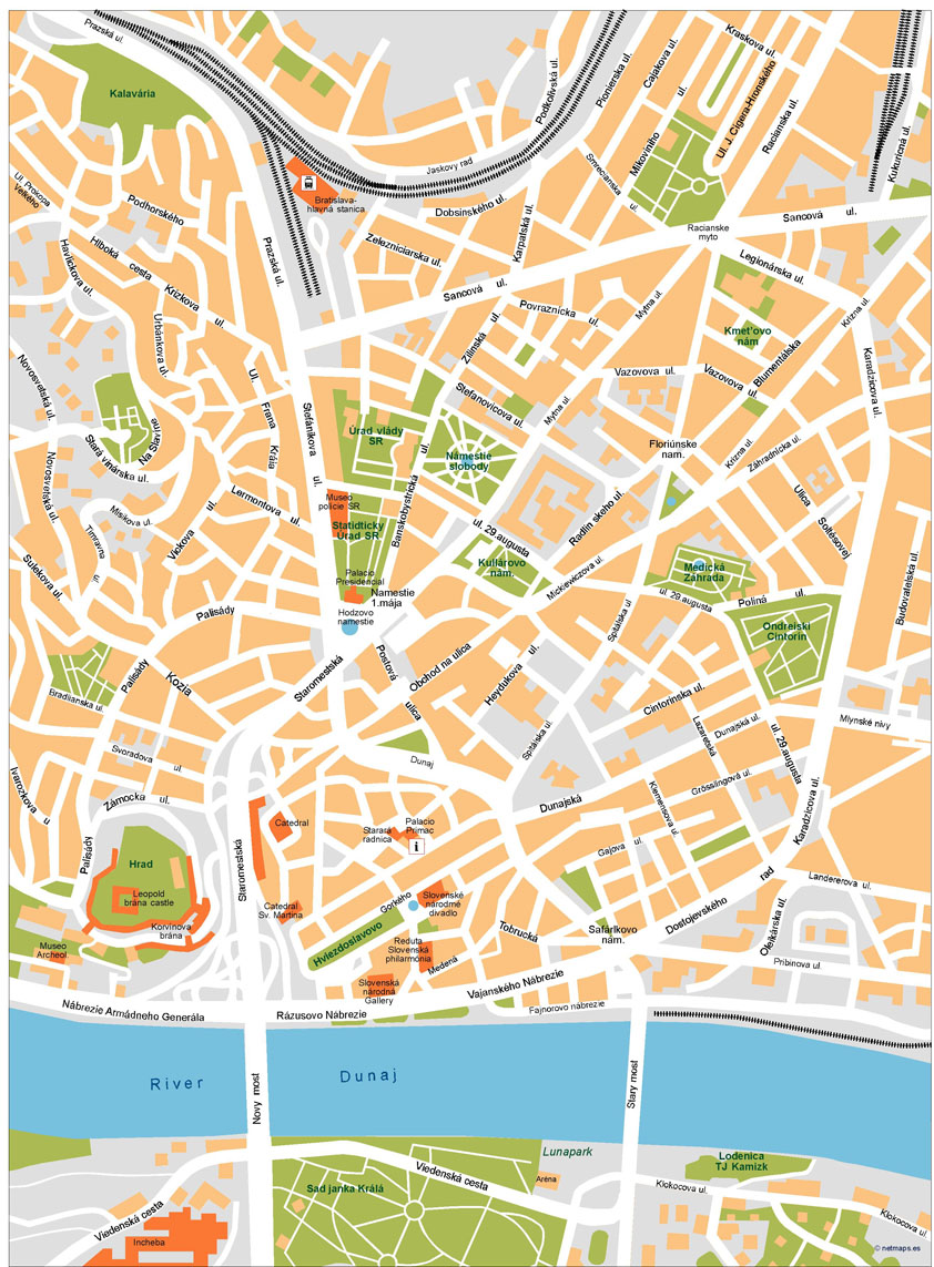 Bratislava Vector Map Our cartographers have made Bratislava
