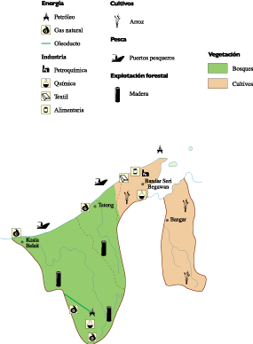 Brunei Economic map