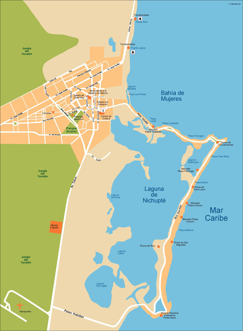 Cancun Vector Map | Vector World Maps on