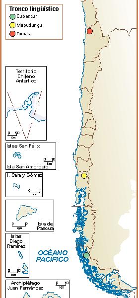 Chile mapa lenguas