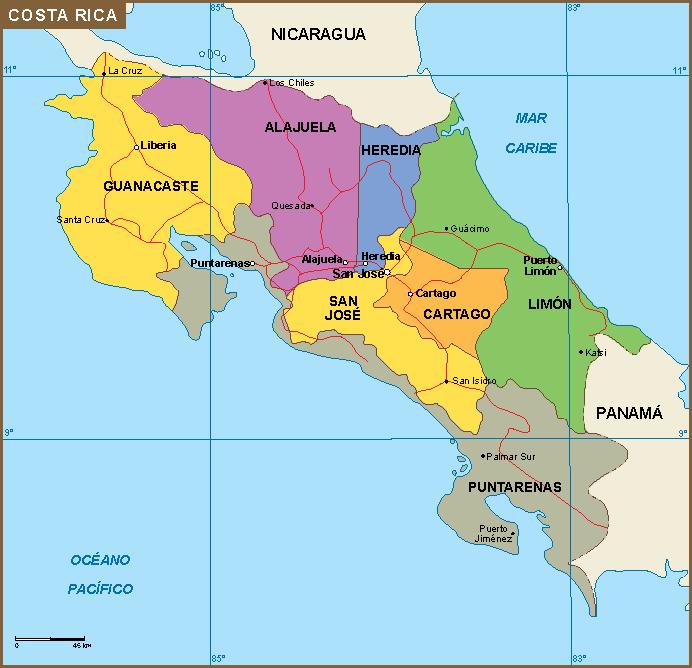 costa rica mapa Costa Rica mapa | A vector eps maps designed by our cartographers  costa rica mapa