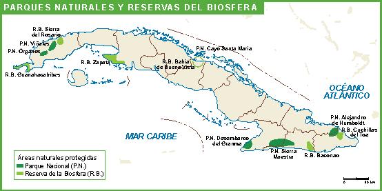 Cuba mapa parques