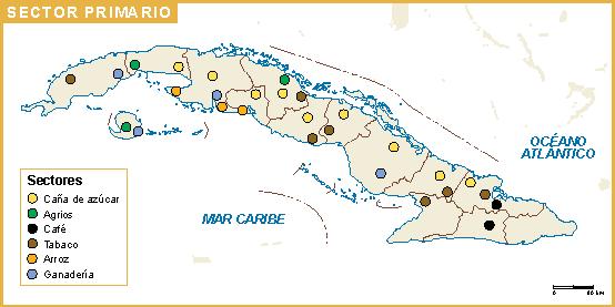 Cuba mapa sector primario
