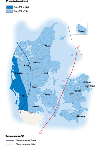 Denmark Climate Map Denmark Climate map   Vector World Maps