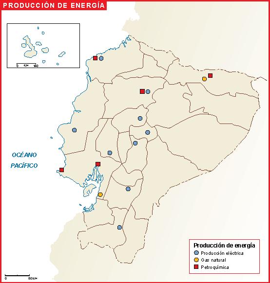 Ecuador mapa energia