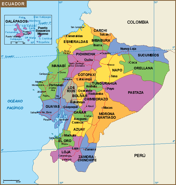 mapa Ecuador mapa | A vector eps maps designed by our cartographers  mapa