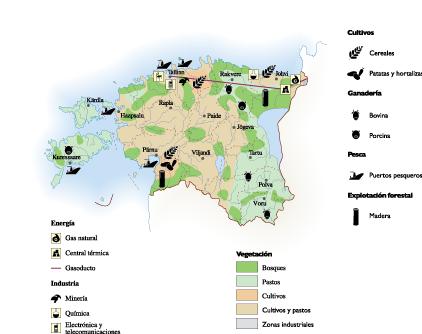 Estonia Economic map