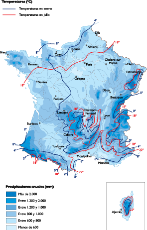 Map Of France Weather.France Climate Map Vector World Maps