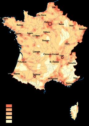 France Population map