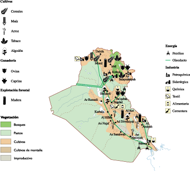 Iraq Economic map Our cartographers have made Iraq Economic map