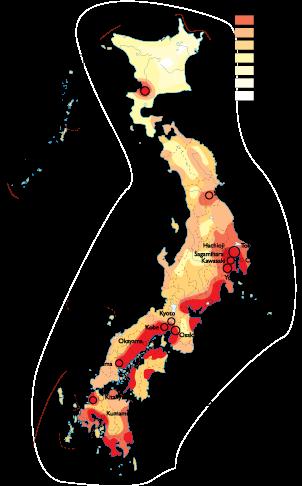 Japan Population map