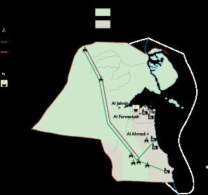 Kuwait Economic map