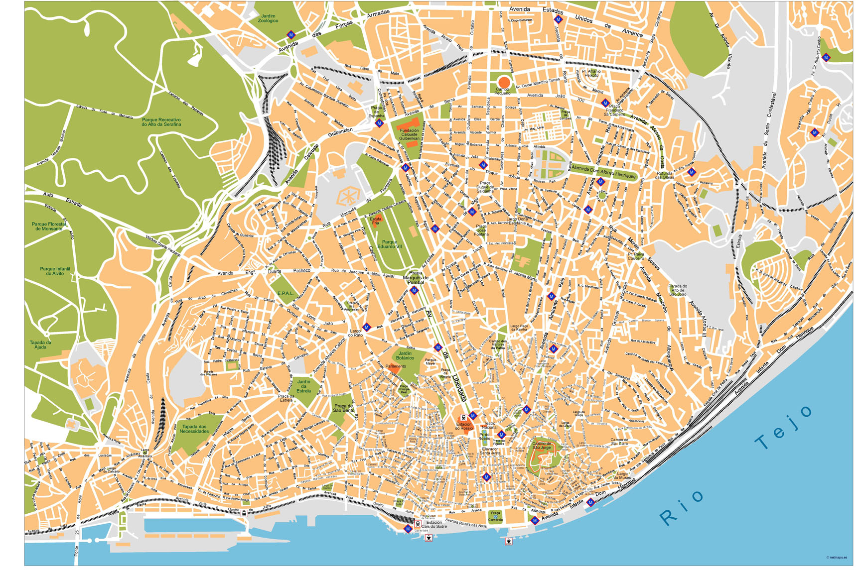 mapa vectorial lisboa Lisboa Vector Map | A vector eps maps designed by our  mapa vectorial lisboa