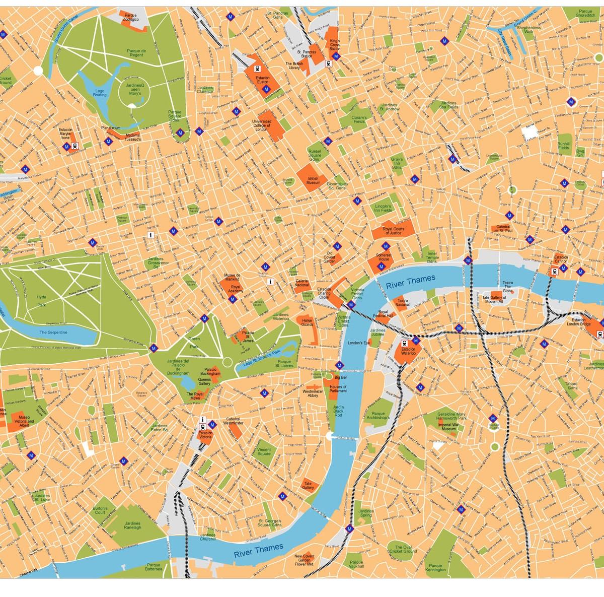 London Center Map.London Vector Map