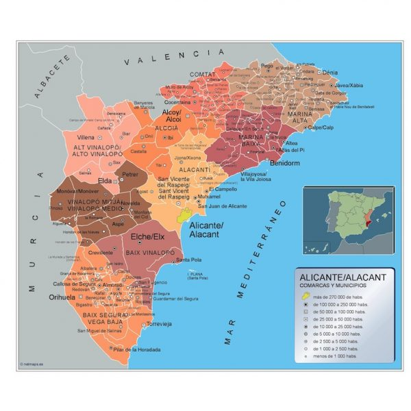 Mapa Municipios Alicante