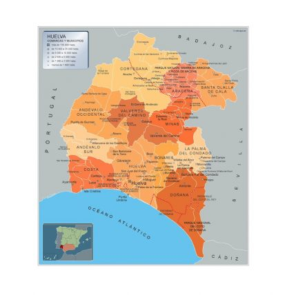 La Palma Mapa Municipios.Mapa Municipios Huelva