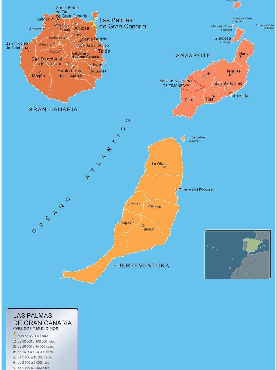 Mapa Municipios Las Palmas Gran Canaria Our cartographers have