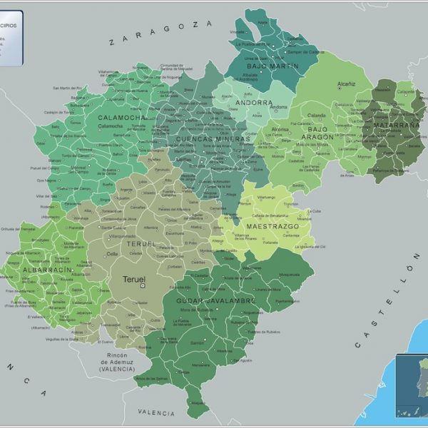 maps of provinces of spain Vector Wall Maps made in Barcelona